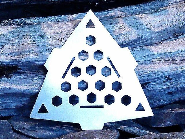 Picture of Triangle Burn Plate - Titanium
